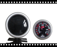 Free shipping 2inch 52mmLED  Auto Gauge  high contract smoke lens boost / turbo gauge with sensor black face LED7707-2