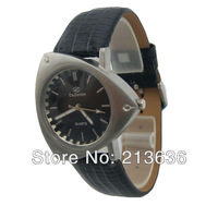 Free Shipping no MOQ S1292 Men's Triangle Shape Genuine Leather Stap Water Resist Sports Quartz Watch With Japan Movt