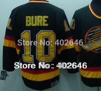 Wholesale ice Hockey Vancouver #10 Pavel Bure black CCM jerseys, can mix order