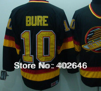 Wholesale ice Hockey Vancouver #10 Pavel Bure black CCM jerseys, can mix order