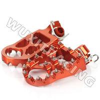 MX Dirtbike Offroad CNC Billet Alloy Foot Peg Rest For KTM SX 65 02-11 SX/EXC 125 300 450 520 525 SX/EXC/SXF 250 00-11 Orange