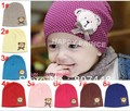 Free shipping 10pieces/lot 100% cotton cute bear baby hat beanies, Colors #1~#8