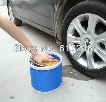 Hot sales 11L Portable Foldable Water Bucket Camping Caravans Fishing Car wash outdoor contains blue or red color
