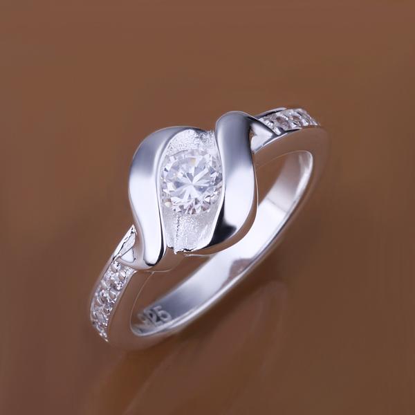 Бесплатная доставка 925 серебряных ювелирных изделий кольца отлично мода посеребренные циркон женщины и мужчины палец кольцо высокое качество smtr160