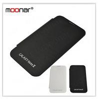 Retail 1pcs/lot Flip Cover For Galaxy Note 2 N7100 White/Black PU Leather Protective Case Armor  DA0226 DA0227