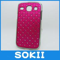 For Samsung Galaxy Core i8262 i8260 bling star chrome hard case Bling Crystal Diamond Star back cover+FILM