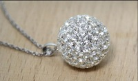 F04057-5 Fashion Jewelry 925 Sterling Silver Inlay Crystal Austria Shambhala Ball Pendant (no Necklace)for Women Ladies+freeship