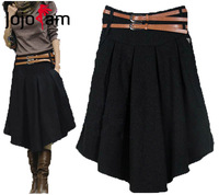 Free Shipping! 2014 Spring,Autumn and Winter Women's Wool Pleated Asymmetrical Expansion Over-the-Knee Full Bust Skirt D0849#