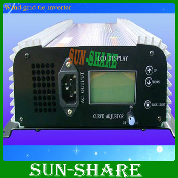 free shipping! 600W Wind grid tie inverter 3phase input AC10.5V-30V +Dump load resister with LCD Display