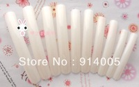 100pcs/lot Long Sharp Salon Acrylic False Nail Tips - Natural or clear For Nail art Free Shipping