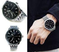 2014 Sinobi brand top Men sports Watches New South Korean fashion Mens full steel quartz Watch casual wristwatches male clock