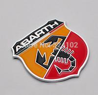 30pcs lots 3D alloy ABARTH Boot Car Badges Sticker Emblem 50x60mm Good quality.
