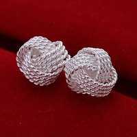 Hot Sell!Wholesale 925 silver earring,925 silver fashion jewelry Earrings,Fashion Tennis Earring SMTE013