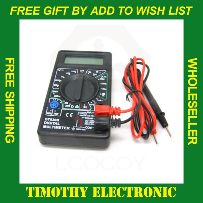 Free shipping AC/DC Ammeter Voltmeter Ohm Electrical Tester Meter Professional Digital Multimeter DT830B 1PC(China (Mainland))