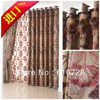 Free shipping Quality living room curtain fashion curtain shade cloth jacquard millenium wardour