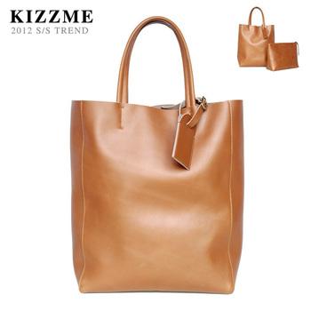 free shipping 2014  kizzme brand women's handbag high quality genuine leather long vintage shoppingbag bag shoulder tote