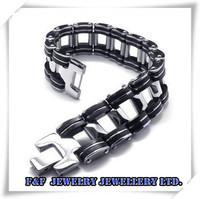 "8.5"" Men's Silver 316L Stainless Steel Bicycle Chain Bracelet,Free Shipping,B#09,Fashion Bracelet"