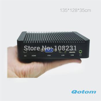 cheap mini desktop pc,mini pc x86 1037u,Qotom-Q100-S02 2G RAM,320G HDD+128G SSD+300M WIFI,mini pc x86/htpc