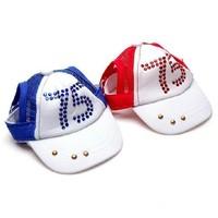 Pet Hat Dog Headdress Pet Product Cute Fashion Dog Supplies Diamond Caps Sun Hats Baseball Caps Size Adjustable 1pcs/lot