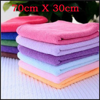 10pc/lot 70cm x 30cm Microfiber Towel  Microfibre car wash cleaning supplies,Blue,Green,Red,Purple,Brown Color choose