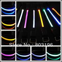 Black Style LED Reflective ArmBands Flashing Arm/Leg Bands for Shooting Running Bicycle 50Pcs/lot Free Shipping