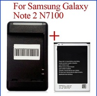 Hot Selling Freeshipping 3100mAh EB595675LU Original Cell Phone Battery + Charger For Samsung Galaxy note 2 II n7100