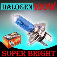 10pcs H4 Super Bright White Fog Halogen Bulb 100W Car Head Light Lamp 100W parking h4 100W car styling car light source