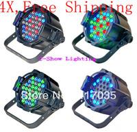 4Pcs free shipping 3w high power led 36pcs led stage par light par 64 led 3w disco light par led dmx controller for party/club
