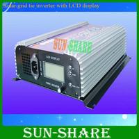 Free shipping!1kw /1000w grid tie inverter with LED display  input DC22v-60v  output.AC190V-260V