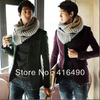 2013 New arrival men's clothing blazer male slim blazer male corduroy blazer male outerwear free shipping