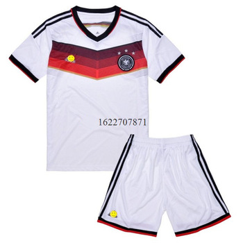 Germany Long Sleeve Soccer Slothes Set(White Shirt+ Black Pants) Home Sport Training Jersey S/M/L/XL 165-185cm zq08