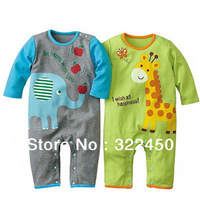 Retails 1PC(0-12Months) Children Kids Baby Infant Newborn Rompers Jumpsuits for  Spring Cotton Cartoon overalls For baby Boys