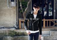 Fashion City Hunter Lee Min-ho thickened oblique zipper Slim Jacket casual men coat free shipping ZA696