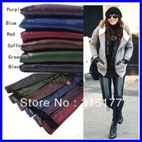 Free shipping 6colors Winter legging For women wholesale 30pieces/lot Mix order Faux Leather Double-deck  high legging K129