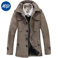 2015 New Style Top Brand Autumn and Winter Men's Jakect Woolen jackets for men coats thicken outerwear Mens Coat Winter Overcoat