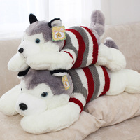 40 cm(15.75 inch) stuffed dog toy plush Husky in cute sweater, new arrival 1 piece/lot plush doggy toy for baby's gift