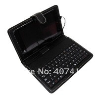 "Black Pink blue purple white Leather Case USB Keyboard +Stylus for 7"" Huawei MediaPad 7 Lite/ZTE Light Tab 300 Free Shipping"