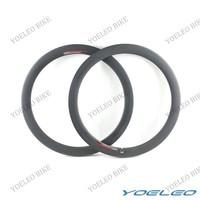 """20 BMX Bike Rims 20"""" (451) BMX Wheel Rims Carbon Fiber Clincher 50mm 2 PCS Front and Rear 300g"""