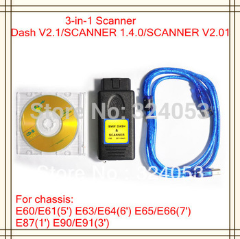 2014 Top Quality Dash Scanner 3 in 1 Inteface ( Dash + Scanner 1.4.0 + 2.01 ) Car OBD2 Code Reader Tool