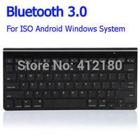 Free shipping Drop shipping 10m effective distance super thin black bluetooth 3.0 wireless keyboard