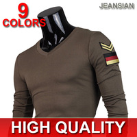 Mens Fashion T-Shirts Top V Neck designer t-shirt mens long sleeve t-shirt Slim Fit  Leisure Stylish New XS S M L D301