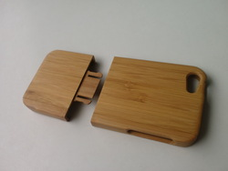 Free USPS Shipping pure Natural Bamboo Wood Case for iPhone 5 with Retail package(China (Mainland))