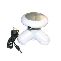 1pc Free Shipping Mini cute electric body healthy massager portable vibrator with USB cable #EC005