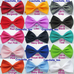 Lot Of 15pcs NEW Tuxedo Classic Bowtie Fashion Solid Color Neckwear Adjustable Unisex Mens Bow Tie Polyester Cheap Pre-Tied(China (Mainland))