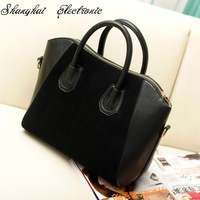 Hot Sale! Bag fashion bags 2013 patchwork nubuck leather women's handbag smiley shoulder bags free shipping