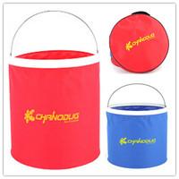 Outdoor folding bucket portable camping vehienlar fishing bucket ultra-light 9l8702-1