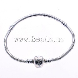 Lot 10Pcs Silver Snake Chain European Bracelet ,Factory Price(China (Mainland))