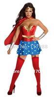 Free shipping ML5201 Supergirl Corset Adult Costume superhero costume