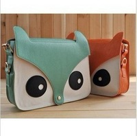 Women's Cute New Contrast Color Owl Messenger Pu Material Hobo Shoulder Bag