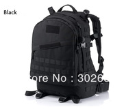 Men Backpack Outdoor Bag Travelling bags Sports Bags Black Free Shipping 1 PCS